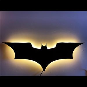 Other - Batman Wooden Wall Art with LED lights